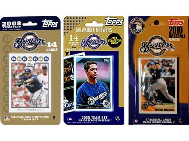 C & I Collectables BREWERS3TS MLB Milwaukee Brewers 3 Different Licensed Trading Card Team Sets
