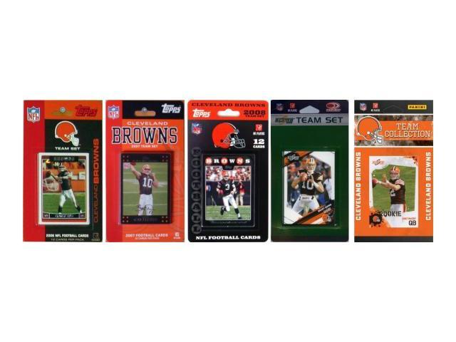 C & I Collectables BROWNS5TS NFL Cleveland Browns 5 Different Licensed Trading Card Team Sets
