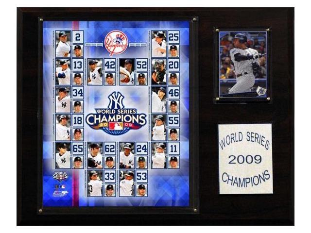C & I Collectables 1215WS09 MLB Yankees 2009 World Series Champions Plaque
