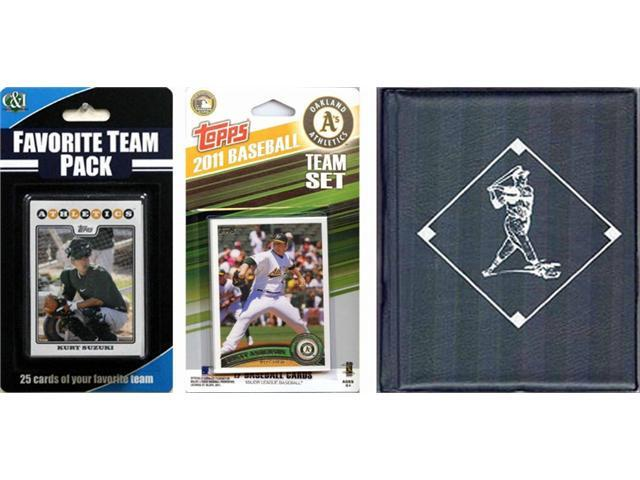C & I Collectables 2011ASTSC MLB Oakland Athletics Licensed 2011 Topps Team Set and Favorite Player Trading Cards Plus Storage Album