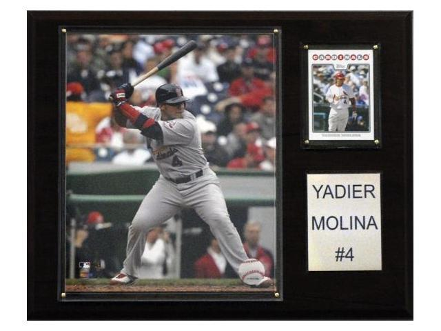 C & I Collectables 1215YMOLINA MLB Yadier Molina St. Louis Cardinals Player Plaque