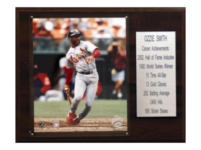 C & I Collectables 1215OZZIEST MLB Ozzie Smith St. Louis Cardinals Career Stat Plaque
