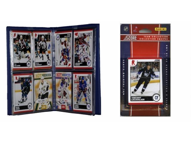 C & I Collectables 2010LIGHTTS NHL Tampa Bay Lightning Licensed 2010 Score Team Set and Storage Album