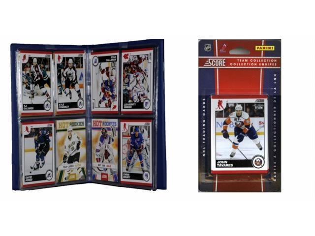 C & I Collectables 2010NYITS NHL New York Islanders Licensed 2010 Score Team Set and Storage Album