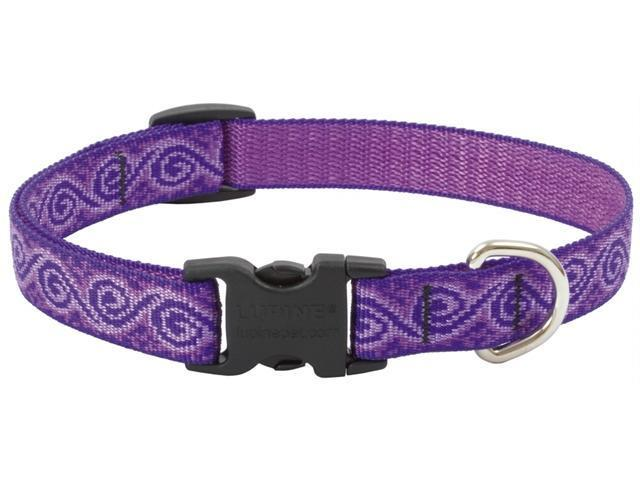 Lupine Inc .75in. X 12in.-20in. Adjustable Jelly Roll Design Dog Collar  96902