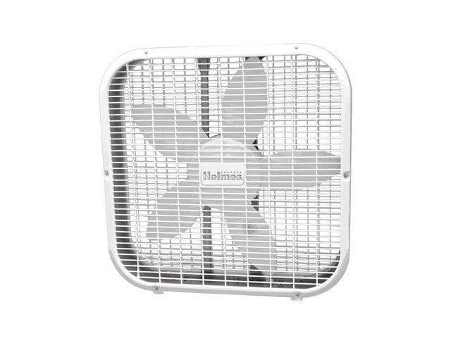 HOLMES HBF2010A-WM 20 in. Metal Box Fan White