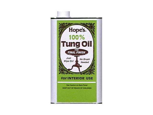 The Hope Company 1 Gallon 100 percent Tung Oil  128TO2 - Pack of 2
