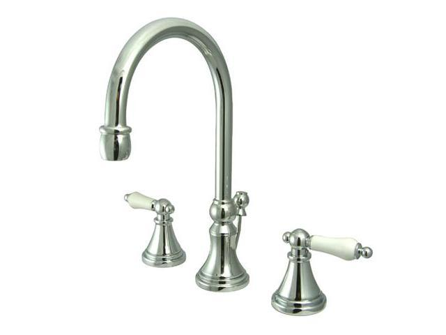 Kingston Brass KS2981PL Two Handle 8 in. to 16 in. Widespread Lavatory Faucet with Brass Pop-up