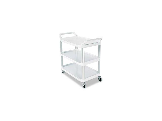 Rcp 409100CM Open Sided Utility Cart, 3-Shelf, 40-5/8w x 20d x 37-13/16h, Off-White