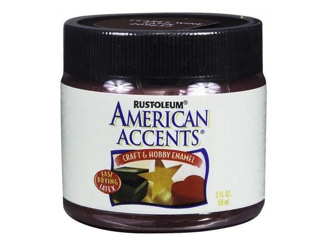 Rustoleum American Accents Claret Wine Craft & Hobby Brush Enamel Paint 209637 - Pack of 6
