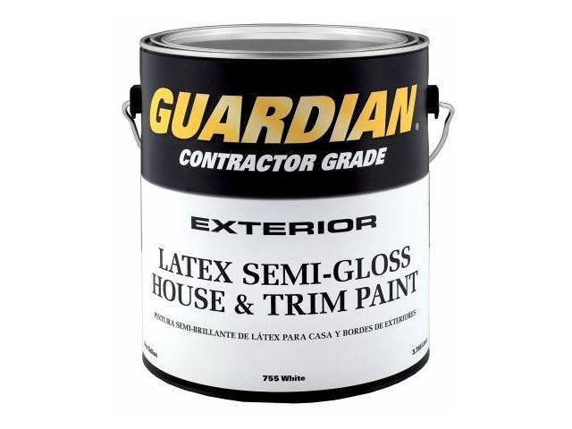 Valspar Brand 1 Gallon Semi-Gloss White Exterior Latex House Paint  44-755 GL - Pack of 4