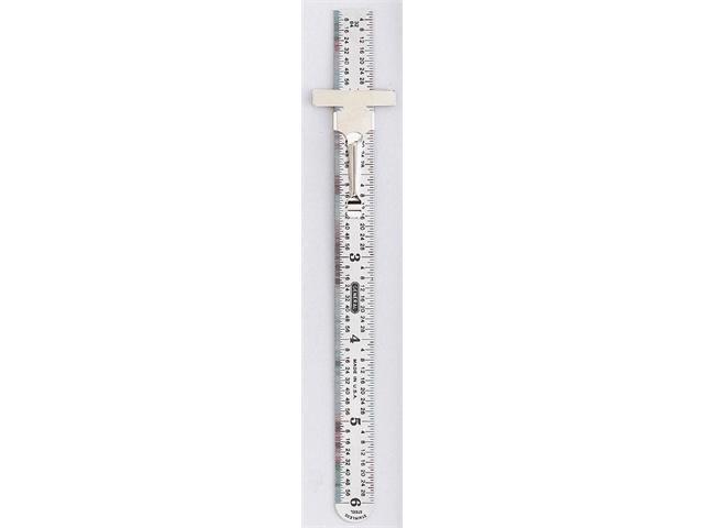 Percision Flex Steel Ruler W/ Pocket Clip 6