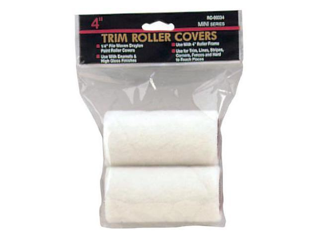 Gam Paint Brushes 3in. X .25in. Mohair Mini Trim Roller Covers Twin Pack  RC00322