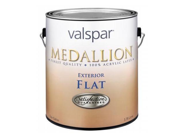 Valspar Brand 1 Gallon Flat Tint Base Medallion Exterior Latex House Paint  27-4 - Pack of 4