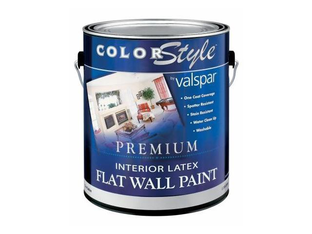 Valspar Brand 1 Gallon White Colorstyle Interior Latex Flat Wall Paint 44 26300 Pack Of 4