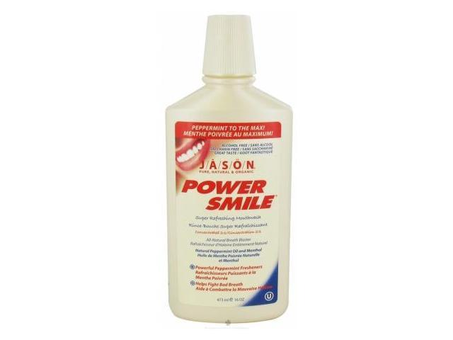 JASON Natural PowerSmile Super Refreshing Mouthwash 16.0 oz