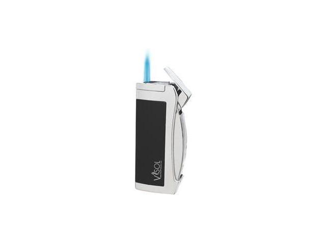 Visol VLR100101 Omega Black Matte Torch Flame Lighter