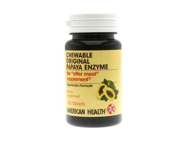 Original Papaya Enzyme - American Health Products - 100 - Chewable