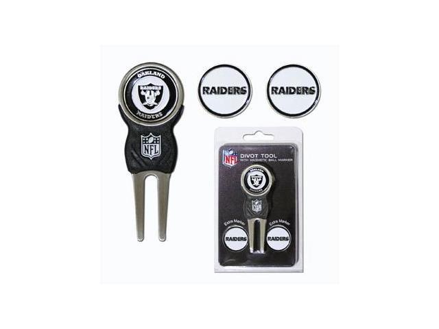 Team Golf 32145 Oakland Raiders Divot Tool Pack with Signature tool
