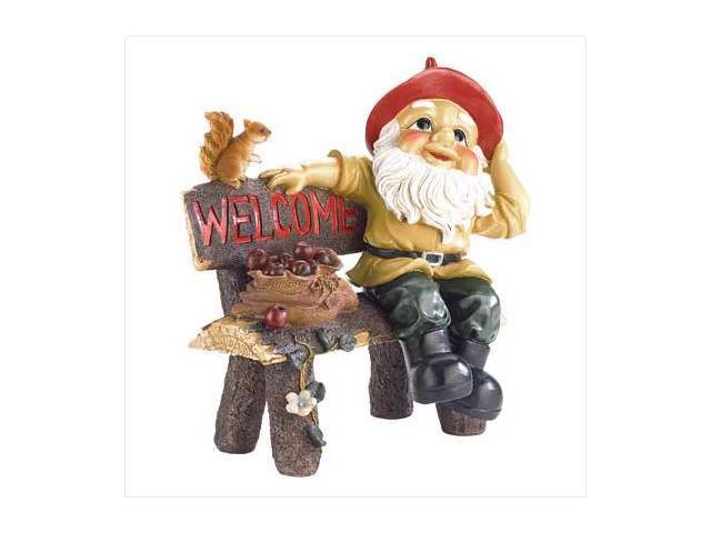 SWM 39265 Garden Gnome Greeting Sign