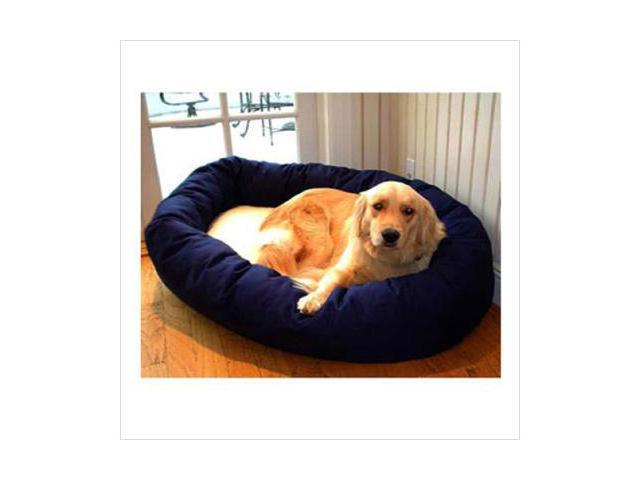 Majestic Pet 788995612223 24 in. Small Bagel Bed- Blue and Sherpa