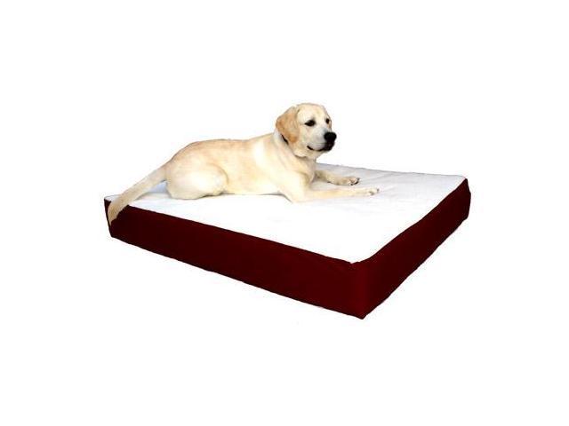 Majestic Pet 788995613442 24x34 Small-Medium Orthopedic Double Pet Bed- Burgundy