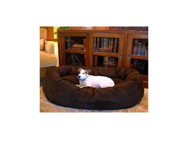 Majestic Pet 78899567401 40 in. Bagel Dog Pet Bed Suede Chocolate