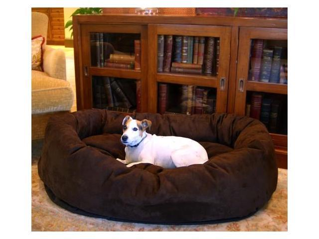 Majestic Pet 78899567501 52 in. Bagel Dog Pet Bed Suede Chocolate