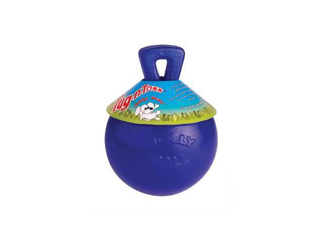 Jolly Pets - Horsemen's Pride Tug N Toss Jolly Ball - Dog Toy Blue 6 In
