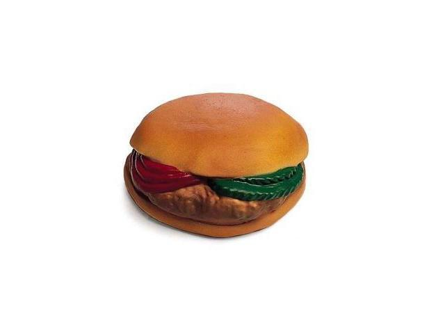 Ethical Pet Vinyl Hamburger W/Tomato/Pickle, 4 Inch - 3086
