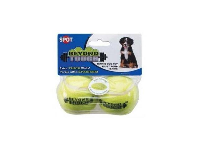 Ethical Pet Beyond Tough Tennis Ball, Yellow, Small/2 Pack - 5625