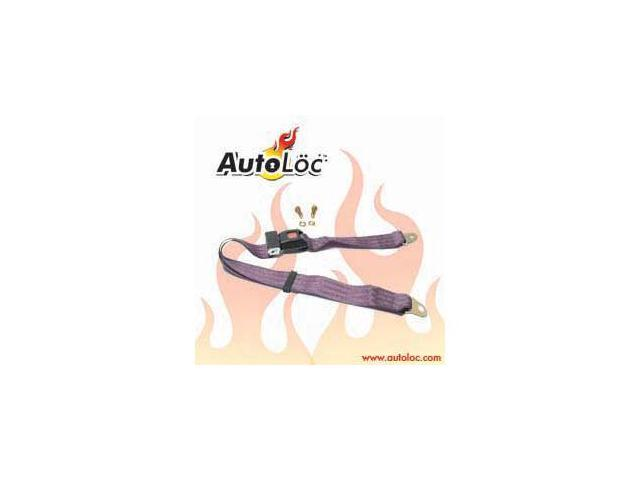 Autoloc SB2PPL 2 Point Plum Purple Lap Seat Belt (1 Belt)