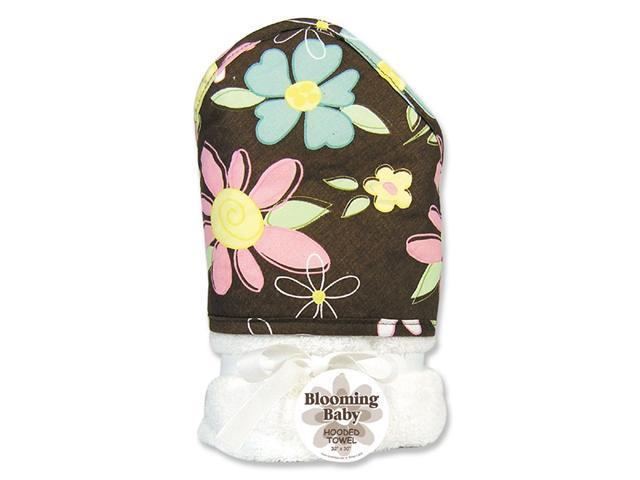 Trend Lab 101283 Blossoms Blooming Bouquet Hooded Towel - Floral Print