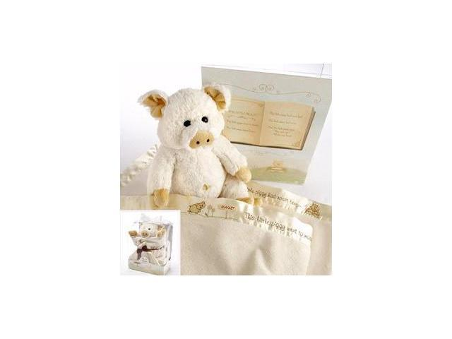 Baby Aspen BA12002IV Pig in a Blanket Two-Piece Gift Set in Adorable Vintage-Inspired Gift Box