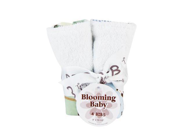 Trend Lab 102633 Bouquet 4 Pack Bib - Baby Barnyard
