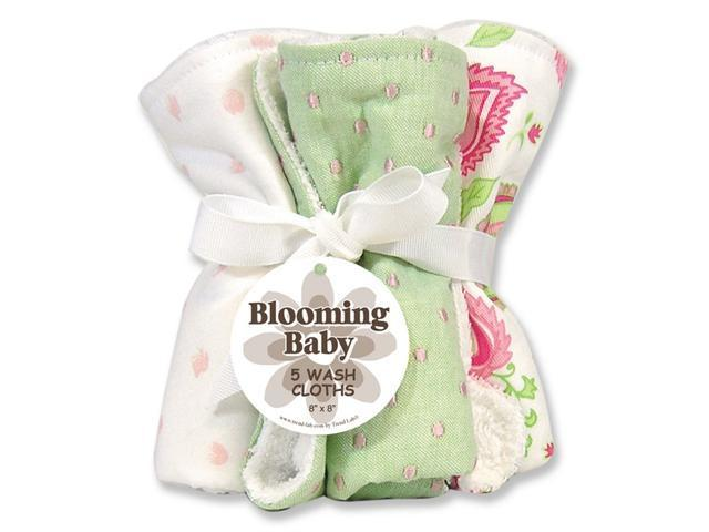 Trend Lab 101270 Paisley Park Blooming Bouquet Wash Cloths- Set of 5