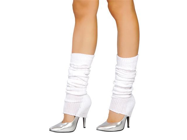 Roma LW101RM White Leg Warmers Adult