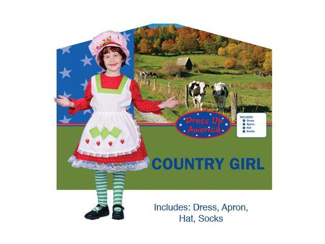 Dress Up America Adorable Country Girl Costume Large 12-14 230-L