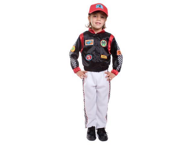 Dress Up America 507-L Child Race Car Driver Costume - Size Large