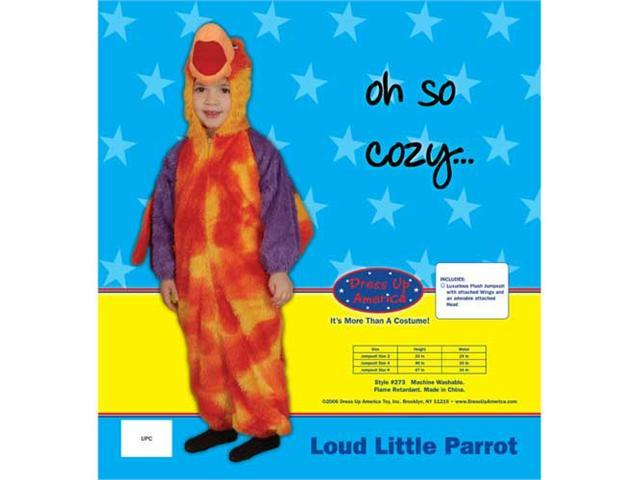 Dress Up America Loud Little Parrot Costume Set Size 2 273-2