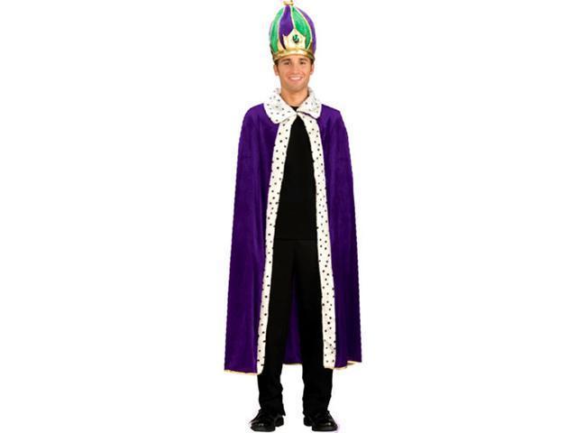Mardi Gras Robe and Crown Adult Set