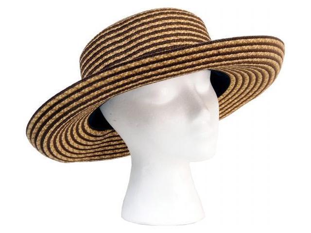 Sloggers Light & Dark Brown Faby Short Braided Hat  4412BN
