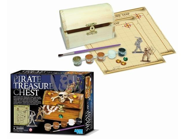 Toysmith TS9241 Paint Your Own Pirate Treasure Chest