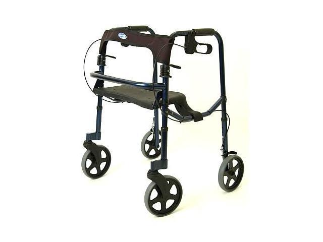 Invacare 68100 Adult Rollite Rollator with 8 Inch Spoked Casters - Midnight Blue - 300lb Capacity