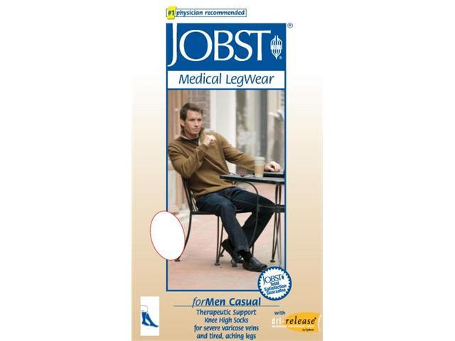 Jobst 113140 for Men 30-40 mmHg Extra Firm Casual Knee High Support Socks - Size & Color- Khaki Small