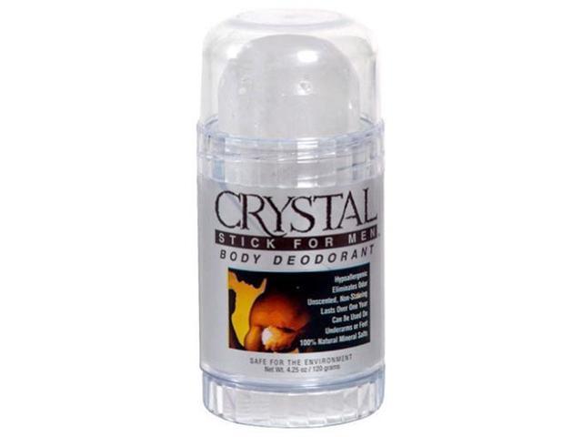 Deodorant-Men's Crystal Clear Stick 4.25 oz. - Crystal Body Deodorant - 1 - Stick
