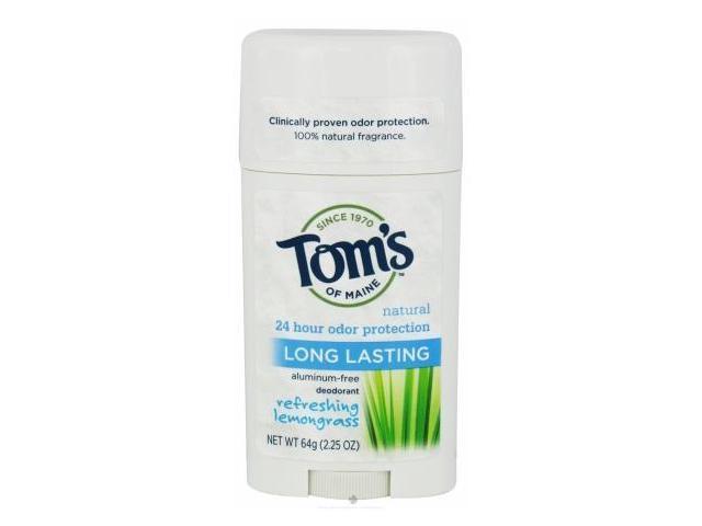 Tom's of Maine Natural Long-Lasting Deodorant Stick 64g/2.25oz (Lemongrass)