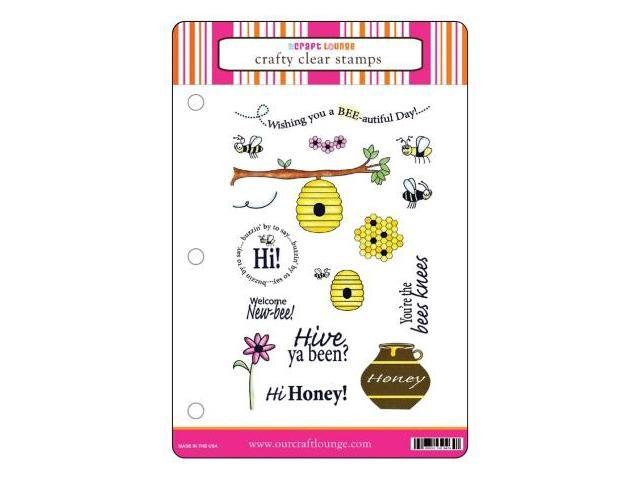 Alvin CCM027 Crafty Clear Stamp Set - Bees Knees