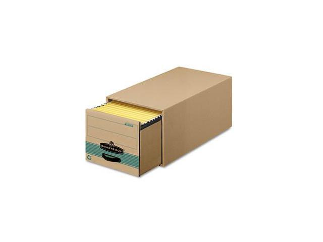 Fellowes 1231201 Super Stor/Drawer Steel Plus Storage Box, Legal, Kraft/Green, 6/Carton