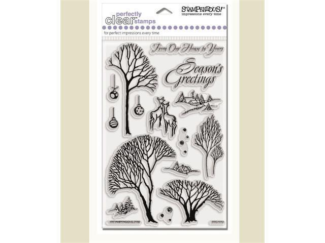 Alvin SSC1013 Winter Trees Clear Stamp